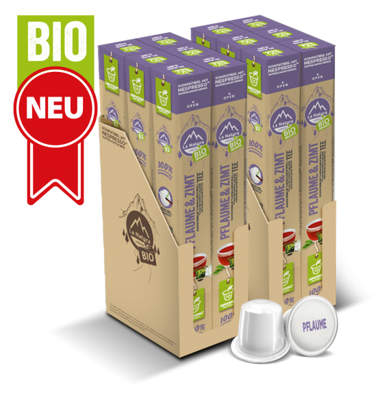 Pflaume & Zimt BIO Tee - 120 Kapseln La Natura Lifestyle BAG