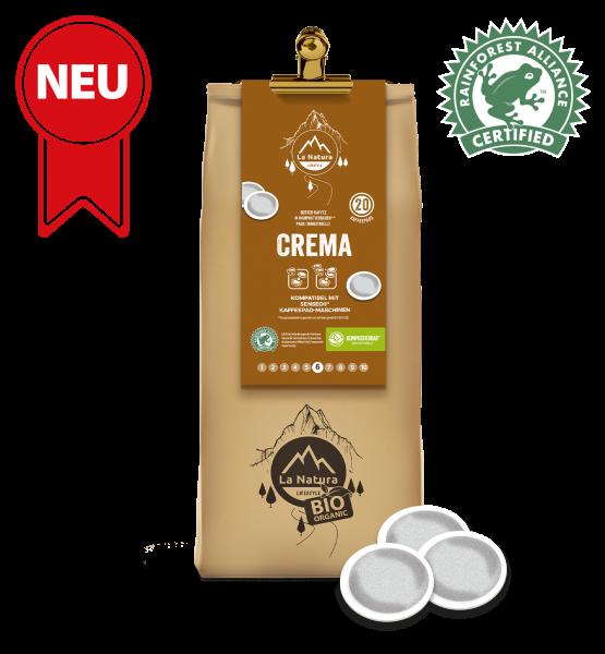 Crema RainForest Kaffee 20 Pads La Natura Lifestyle