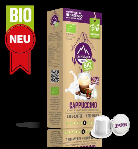 Cappuccino BIO Kaffee-Milch - 10 Kapseln La Natura Lifestyle