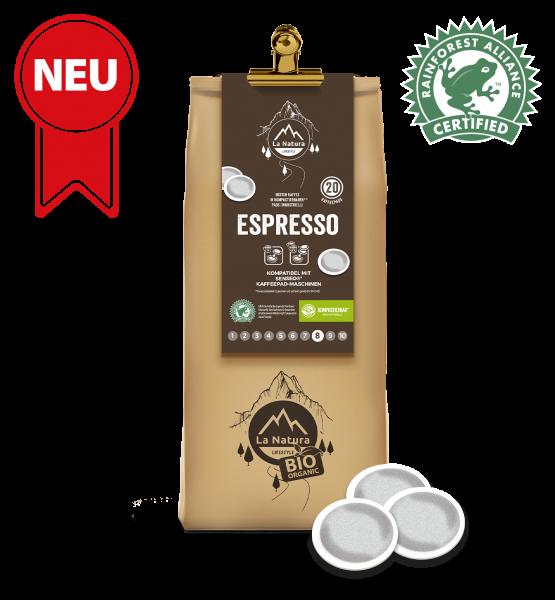 Espresso Rain Forest Kaffee 20 Pads La Natura Lifestyle