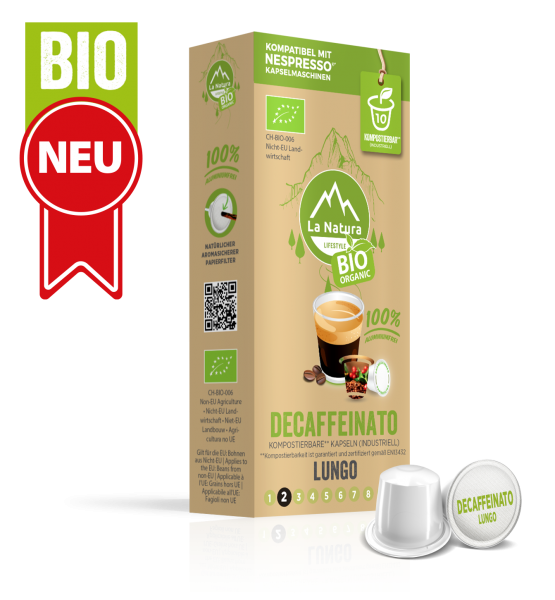 Decaffeinato Lungo BIO Kaffee - 10 Kapseln La Natura Lifestyle