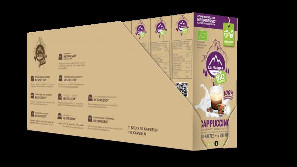 Cappuccino BIO Kaffee-Milch - 100er Multipack La Natura Lifestyle