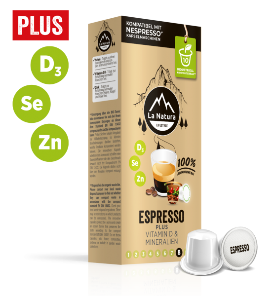Espresso Plus - 10 Kapseln La Natura Lifestyle CRS
