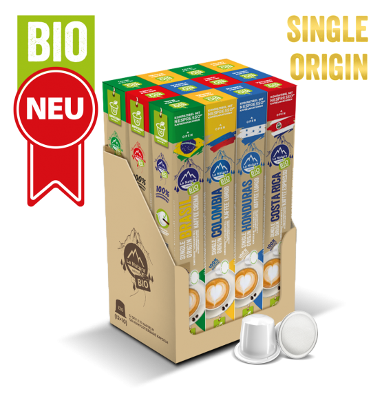 Zvýhodněné balení Single Origin Organic Kaffee - 120 kapslí La Natura Lifestyle