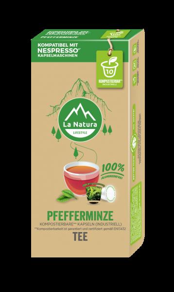 Pfefferminze Tee - 10 Kapseln La Natura Lifestyle CRS