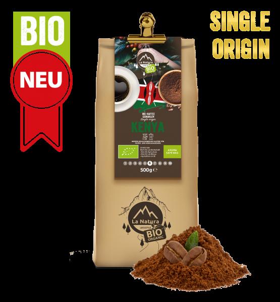 Kenya Bio plantážna káva Single Origin mletá 500g La Natura Lifestyle-Copy