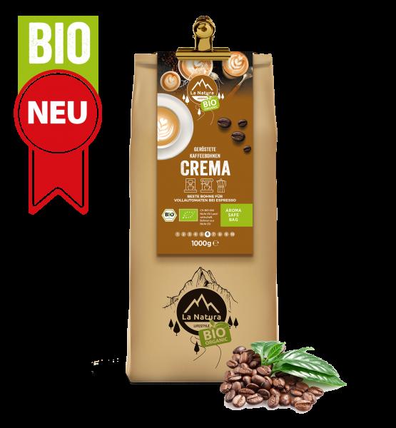 Milder Crema BIO Kaffee 1000g La Natura Lifestyle