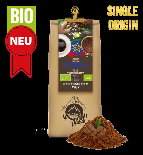 Ethiopia BIO Plantagen Single Origin Kaffee gemahlen 250g La Natura Lifestyle