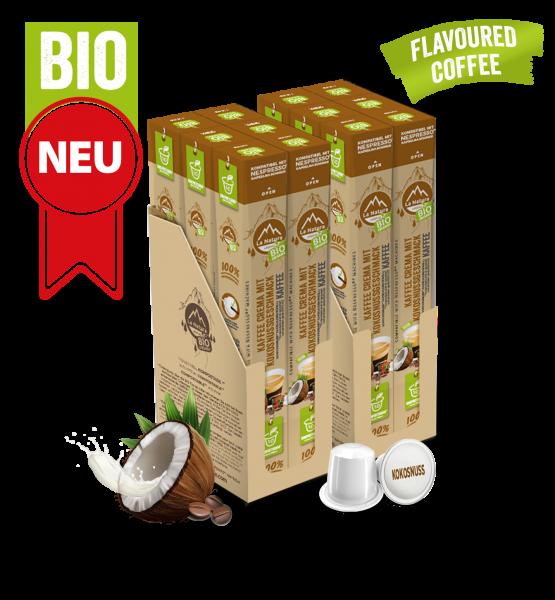 Crema BIO Flavoured Kaffee Kokosnuss - 120 Kapseln La Natura Lifestyle BAG-Copy