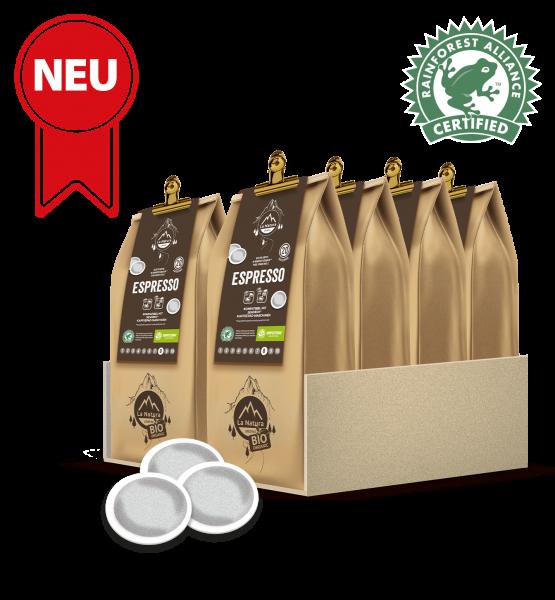 Espresso RainForest Kaffee 200 Pads La Natura Lifestyle