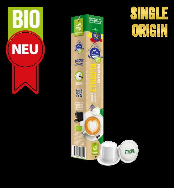 Ethiopia Plantagen Single Origin BIO Kaffee - 10 Kapseln La Natura Lifestyle