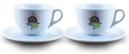 Espresso porcelánový šálek s podšálkem 2 ks. La Natura Lifestyle 70 ml