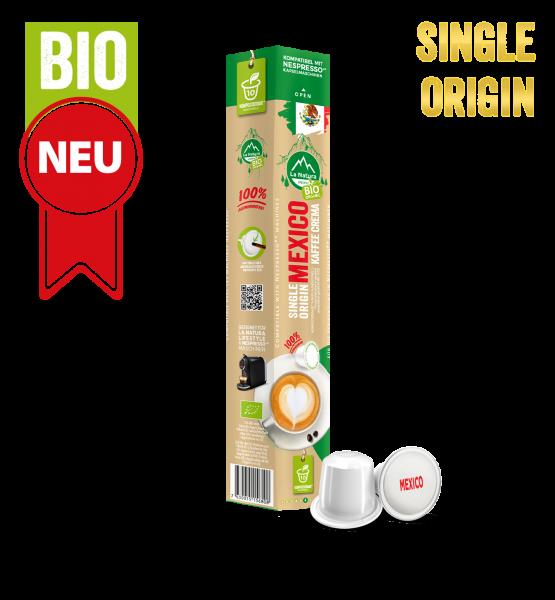 Mexico Plantagen Single Origin BIO Kaffee - 10 Kapseln La Natura Lifestyle