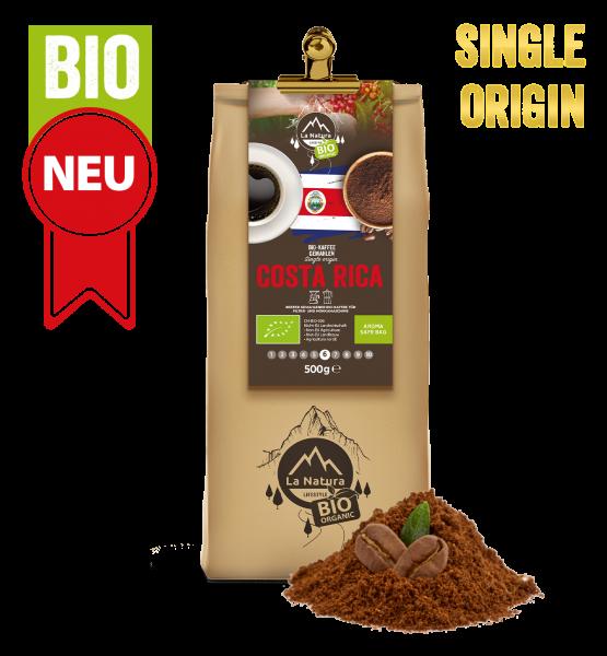 Costa Rica BIO Plantagen Single Origin Kaffee gemahlen 500g La Natura Lifestyle