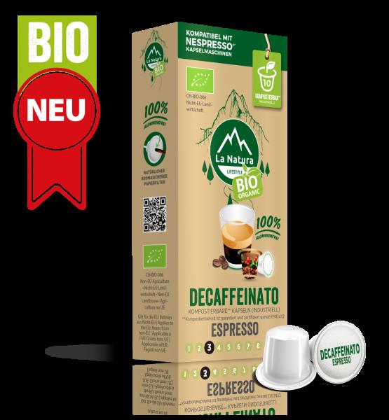 Decaffeinato Espresso BIO Kaffee - 10 Kapseln La Natura Lifestyle