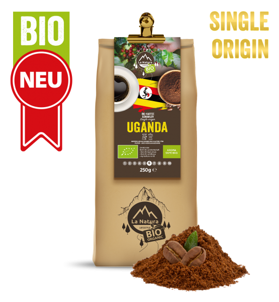 Uganda BIO Plantagen Single Origin Kaffee gemahlen 250g La Natura Lifestyle
