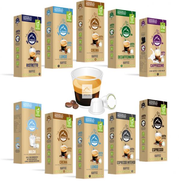 La Natura Lifestyle Kaffee-Geniesser Set - 100 Kaffeekapseln