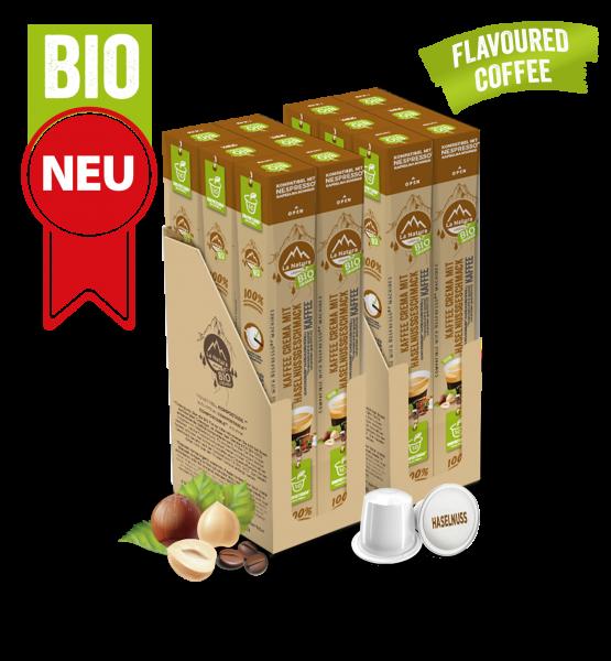 Crema BIO káva s přírodní příchutí lískových oříšků La Natura Lifestyle - 120 kapslí